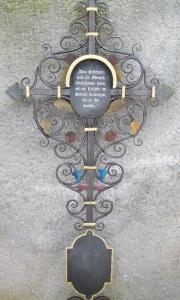 Grabkreuz Heil mit 2 Tafeln