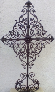 Grabkreuz B2 schwarz