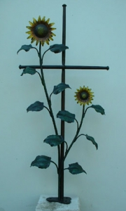 Grabkreuz Sonnenblumen klein