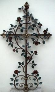 Rosenkreuz groß bemalt