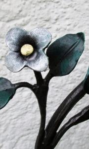 """Vergiss mein nicht"", Blütenköpfchen blattvergoldet"