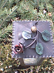 Laternendach mit Rose