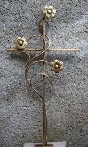 Kreuz mit Blumenranke SB klein