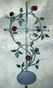 Urnen Rosenkreuz bemalt 100x50 cm